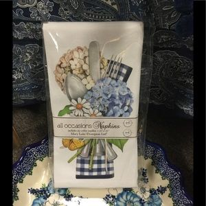Set of 6 Hydrangea Cotton Napkins
